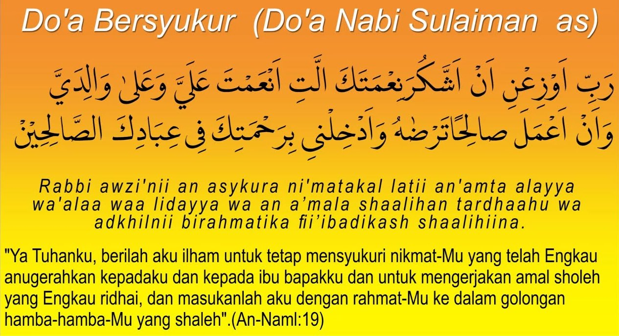 Doa Bersyukur Nabi Sulaiman