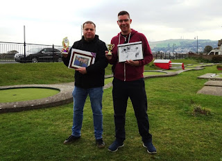Ad Burton and Richard Gottfried - Prestatyn's Crazy Golf Champions