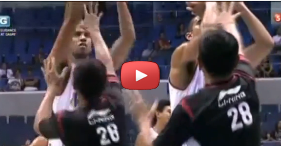 PBA ref tries to block Gabe Norwood (VIDEO)