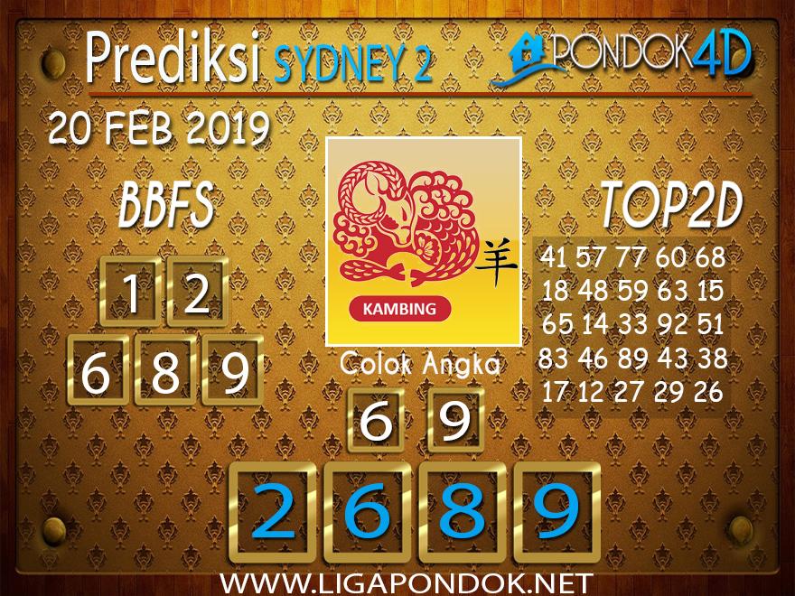 Prediksi Togel SYDNEY2 PONDOK4D 20 FEBRUARI 2019