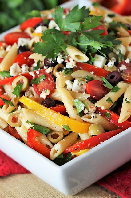 Easy Pepper & Olive Pasta Toss with Grape Tomatoes Image