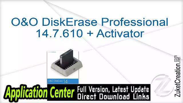 O&O DiskErase Professional 14.7.610 + Activator