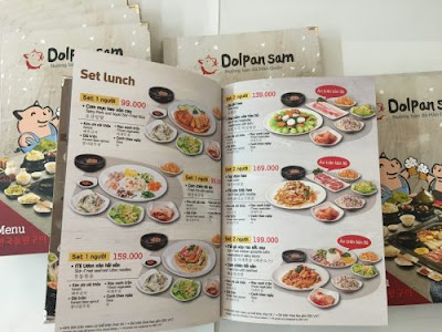 giấy couche in menu