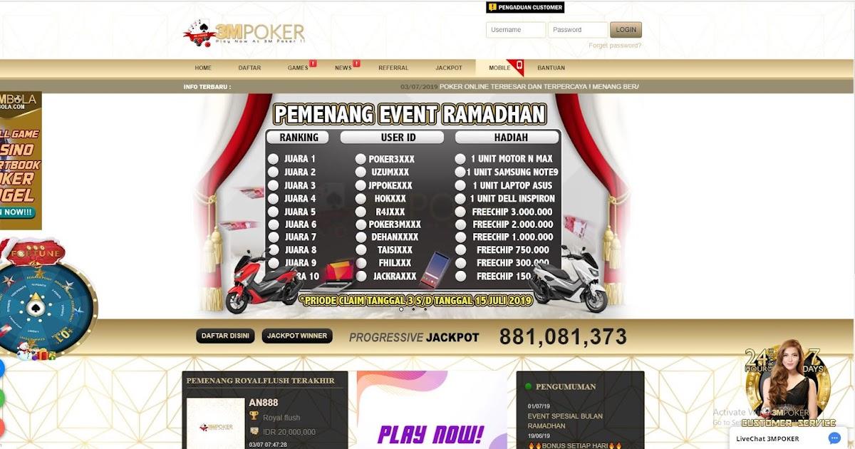 Situs Judi Online 24 Jam 3MPOKER ~ POKER3M.COM