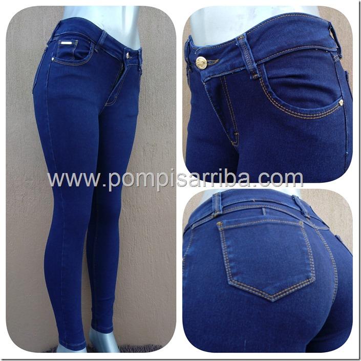 Pantalon en Mezclilla en Color Azul para Venta de Mayoreo
