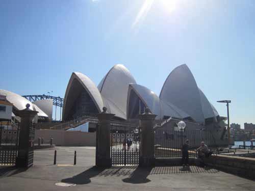 The exterior of the Sydney Opera House Australia