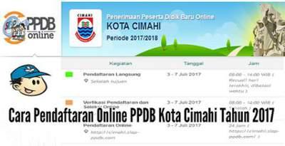 Cara Pendaftaran Online PPDB Kota Cimahi Tahun 2017-2018