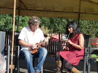 stephen and rekha fowler with ukulele and whistle