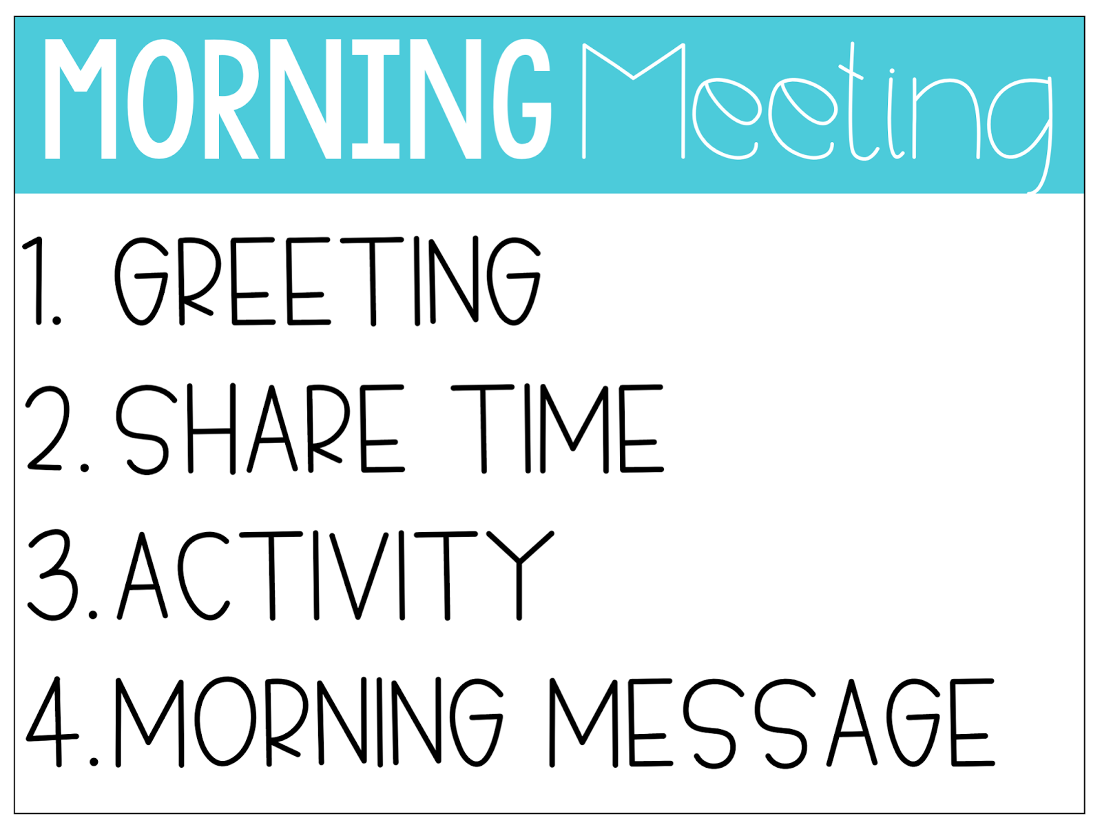 Tips for making the most of morning meeting teaching little leaders morning message i have to admit i was a skeptic of the activity part my first thought was that the activity would be all fun games and silliness m4hsunfo