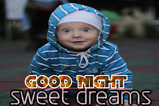 Good night wishes with baby image, good night baby image