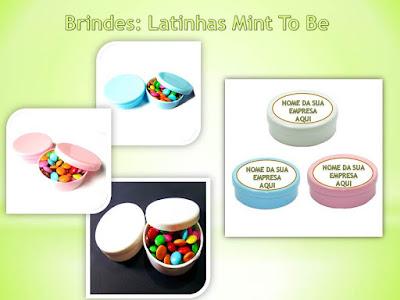 Brindes Baratos, Latinhas Mint To Be personalizadas!