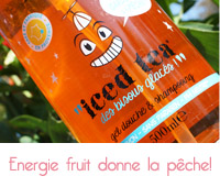 iced tea peche de energie fruit