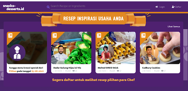 tampilan website snacks-desserts.id