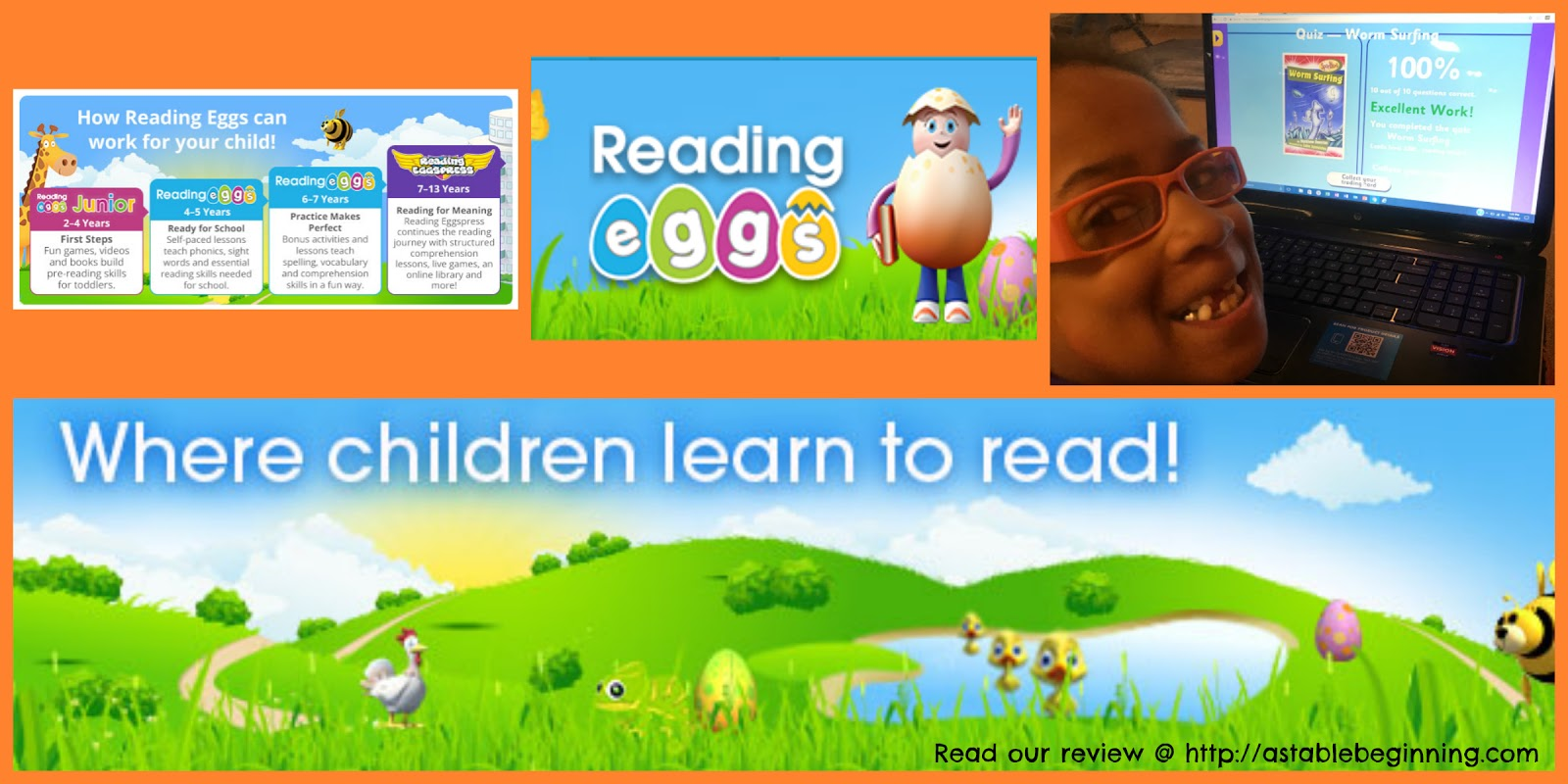 A Stable Beginning: Reading Eggs ~ a TOS review