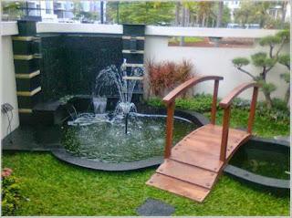 kumpulan taman rumah minimalis dengan kolam ikan