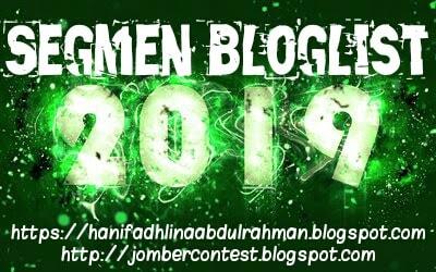 SEGMEN BLOGLIST 2019