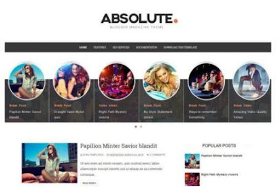 Absolute Blogger Template 2020