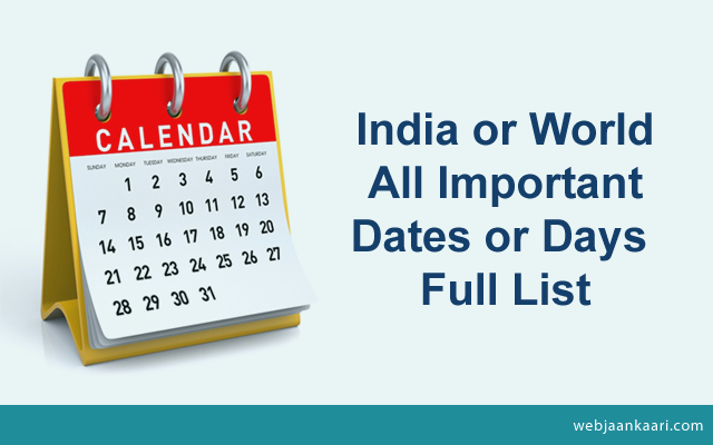 How-to-India-World-All-Important-Dates-Days-Full-List