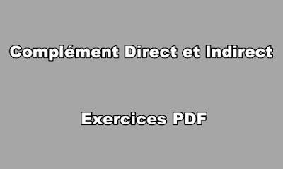 Complément Direct et Indirect Exercices PDF