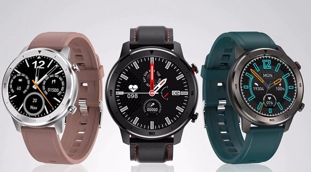 DTNO.1 DT78: smartwatch de 1.3'' con monitor de sueño y ritmo cardíaco, y función de cámara remota