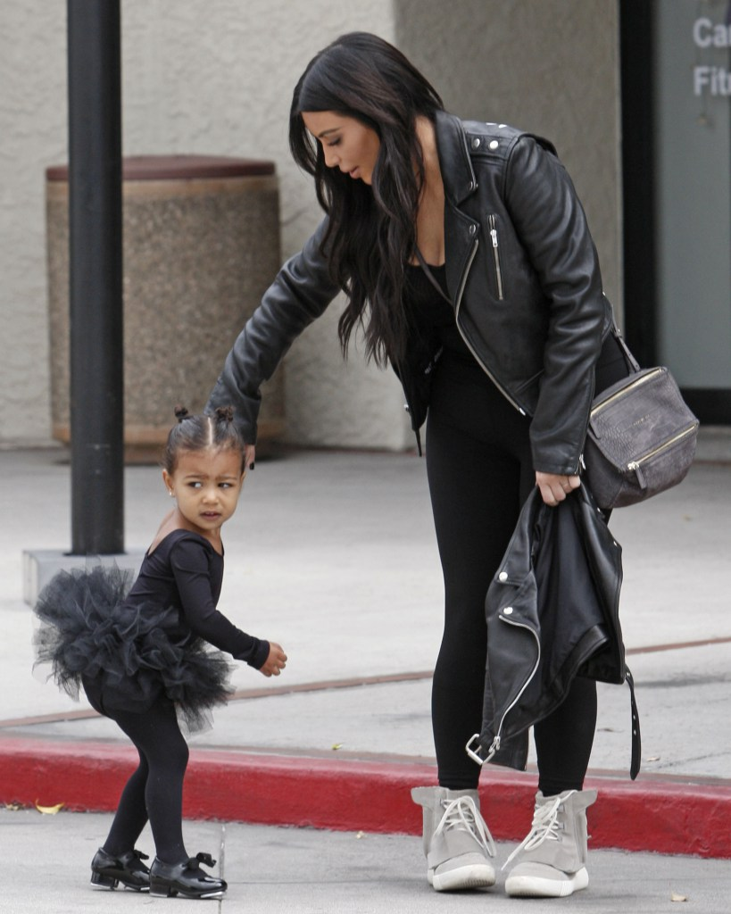 8e7907e9b Kim Kardashian West Wears Yeezy Boosts To Take North To Dancing ...