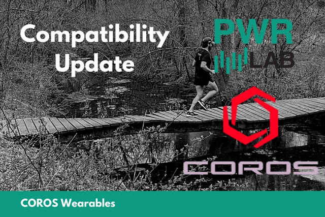 PWR Lab Now Compatible with COROS Wearables