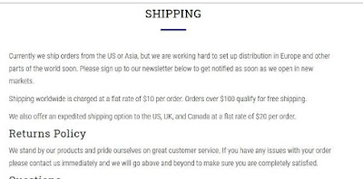 Utama Spice website shipping policy, review and haul on NBAM blog