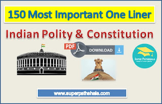 150 Most Important Indian Polity One Liner Pdf for SSC Railway