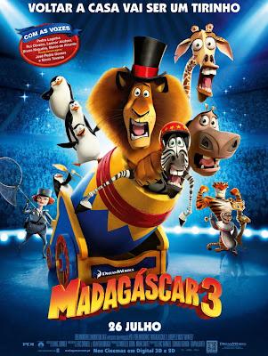 Madagáscar 3 - ( Bluray + Dvdrip + 3D ) Dublado - Torrent
