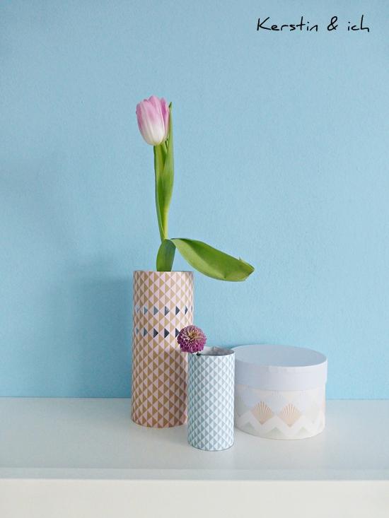 Blumenvase aus Papier, Papiermanschette für Vasen