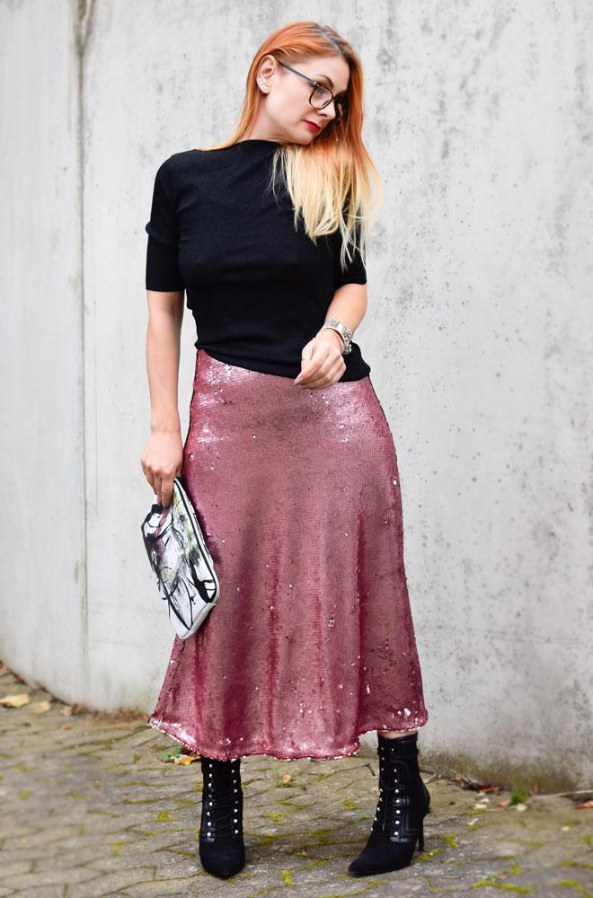 Asymetrischer Blazer in Rosa, schwarz und rosa kombinieren