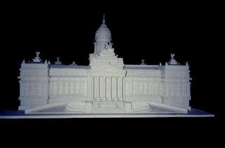 maqueta del congreso, reproduccion de edificios,  maquetas en telgopor