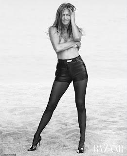 Jennifer Aniston poses topless for US Harper's Bazaar mag
