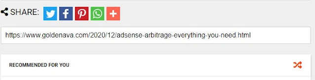 Adsense Arbitrage: social sharing buttons and widgets