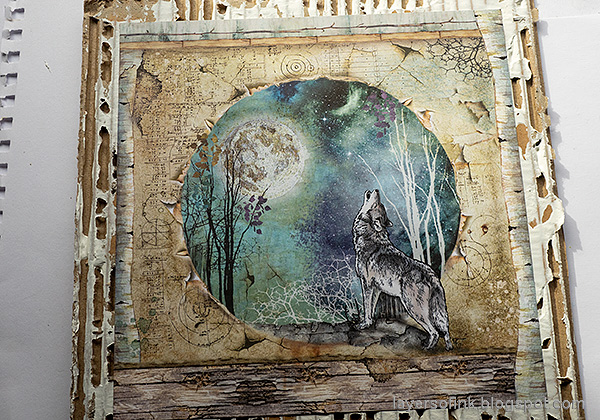 Layers of ink - Magical Nature Wall-Hanging Tutorial by Anna-Karin Evaldsson.