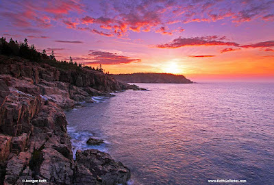 Maine Acdia National Park sunrise