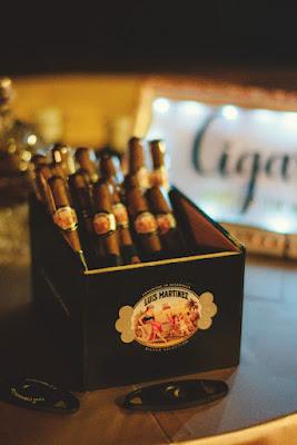cigars in box at wedding