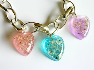 Colourful resin bracelet charms for ashes