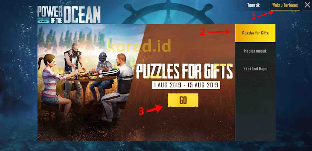 Skin M416 Golden Gratis Event Puzzles For Gifts