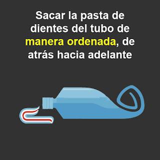TOC : Trastorno obsesivo compulsivo de sacar la pasta de dientes del tubo de atrás hacia adelante.