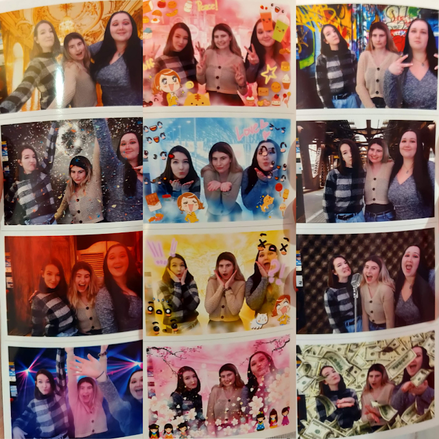 me and my friends took part in 3 different photobooth photos for my 28th birthday before the pandemic hit