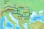 Mapa del río Danubio