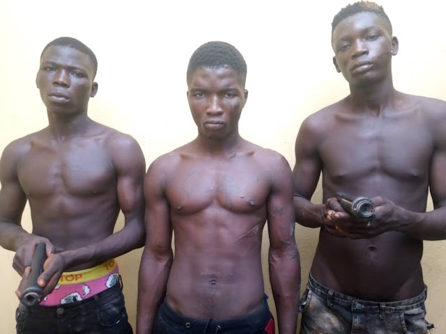 Three armed robbery suspects arrested in Ogun (photo)