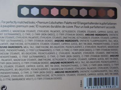 Superbia Vol. 1 Warm Copper Eyeshadow Edition zloženie
