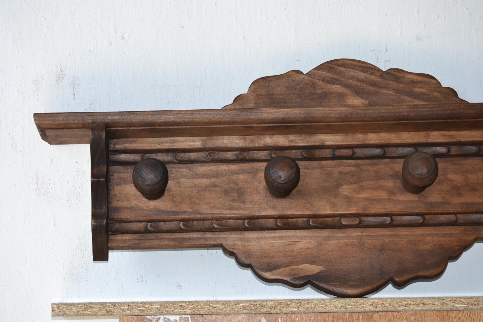 Artesan a r stica en madera gran perchero de madera - Percheros de madera rusticos ...
