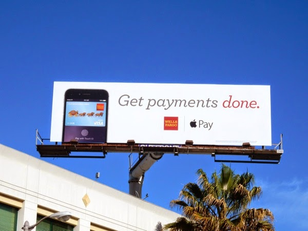 Well Fargo Apple Pay billboard
