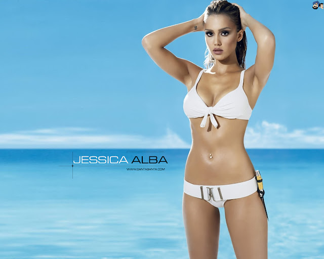 Jessica Alba sexy bikikini wallpaper