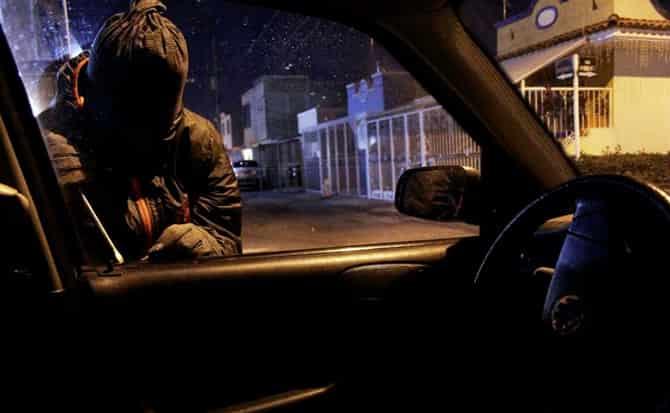 Autos, ladrones, vehículos, noche