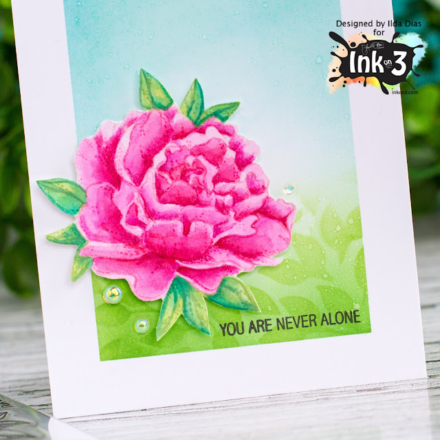 You Are Never Alone, Friendship Card,Ink On 3,No Line Coloring,Atelier Inks,Watercoloring,Card Making, Stamping, Die Cutting, handmade card, ilovedoingallthingscrafty, Stamps, how to,