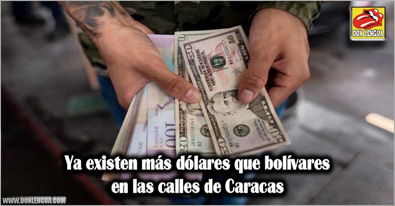 Ya existen más dólares que bolívares en las calles de Caracas